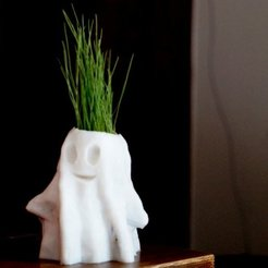 DSC09503-001.JPG Download free STL file Halloween Ghost Planter • Template to 3D print, 3dimka