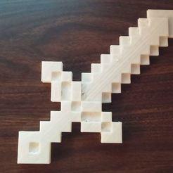 Descargar archivos 3D gratis Espada Minecraft, 3dimka