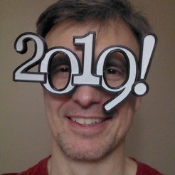IMG_20181225_223940556.jpg Download free STL file 2019 New Year Eve silly glasses (with dual extruder option) • 3D print design, 3dimka