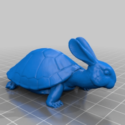 Descargar STL gratis Conejo + Tortuga = Conejo y tortuga, 3dimka