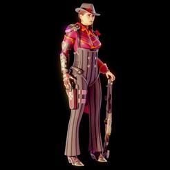 1.jpg Download STL file Ashe Gangster Skin from Overwatch • 3D printable design, Necrosster