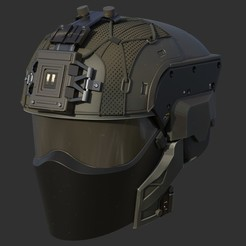 untitled10-2.jpg Download STL file Futuristic tactical helmet • Template to 3D print, Necrosster