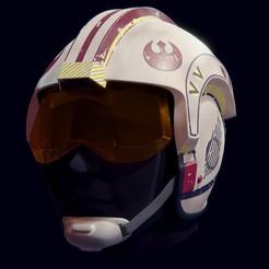 untitled13-2.jpg Download STL file X-Wing Helmet from Star Wars • 3D printing template, Necrosster