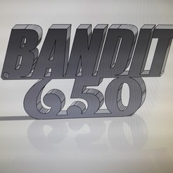 Imprimir en 3D gratis llavero 650 suzuki bandido, leopagnot70