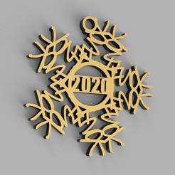 Fuck2020Ornament.png Télécharger fichier STL Ornement du flocon de neige 2020 • Design à imprimer en 3D, ikonis