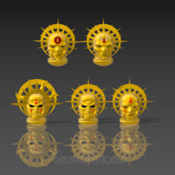 Masks01.png Download free STL file Bloody Death Angel Masks • 3D printing object, m3rcurymorbid