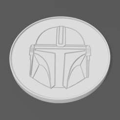 Download free 3D printer designs Mandalorian coaster, j4nm4nn