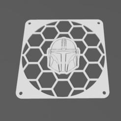 Télécharger fichier impression 3D gratuit Grille de ventilateur Mandalorienne 140mm, j4nm4nn
