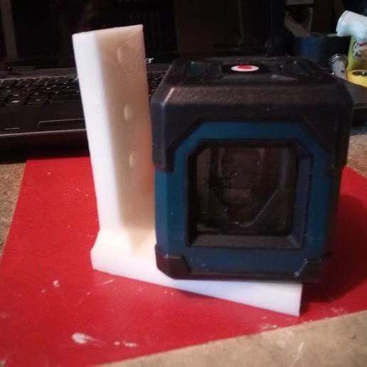 """IMG_20200522_200917.jpg Télécharger fichier STL gratuit Support avec vis 1/4"""" fixation niveau laser ou appareille photo pour fixation par vis ou serre joint  • Plan pour impression 3D, papounet1951"""
