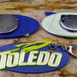 Download free STL file University of Toledo Rockets Keychain, Pin, Button • 3D printing template, Phoenix125