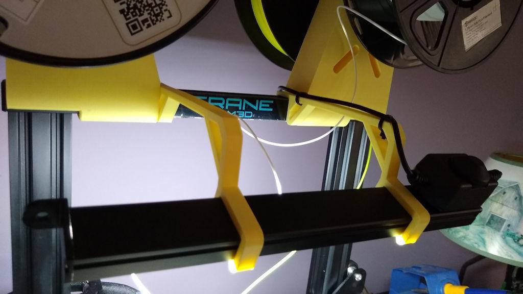 Gulfcoast_Robotics_LED_Light_Bar_Holder_Creality_Ender_3__M3D_Crane_Quad_Close_Up_sm.jpg Download free STL file Gulfcoast Robotics LED Light Bar Holder (Creality Ender 3 & M3D Crane Quad) • 3D print template, Phoenix125