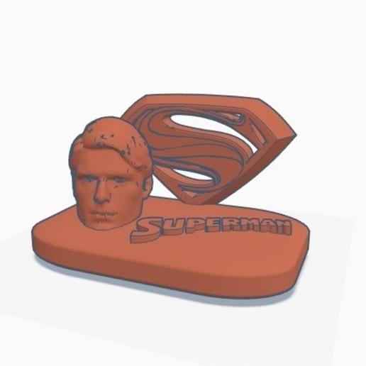 Télécharger plan imprimante 3D gatuit Plaque de Superman, Pizzaface6498