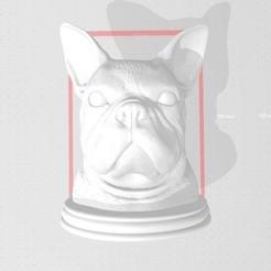 Télécharger objet 3D Buste de bouledogue français, Pizzaface6498
