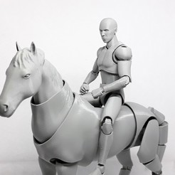 002.jpg Download STL file Horse action figure • 3D printing object, Adel85