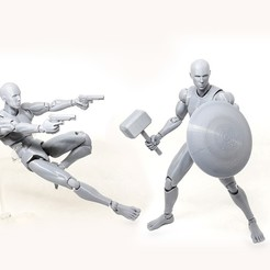 000.jpg Download STL file Mr figure V02 the 3D printed action figure • Object to 3D print, Adel85