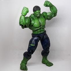 002.jpg Download STL file HULK 1/12 articulated action figure • 3D printer model, Adel85