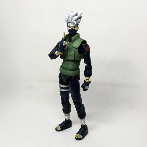 Download 3D printer designs Kakashi action figure (from the anime Naruto), Adel85