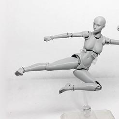 Descargar modelo 3D Lady Figure la figura femenina de acción impresa en 3D, Adel85