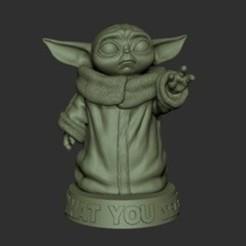 Télécharger fichier STL gratuit Baby Yoda • Plan à imprimer en 3D, gosgnach24lucas
