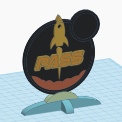 Download free STL file Terraforming Mars Pass Badge, numberninety8