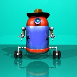 Télécharger fichier imprimante 3D Robot Cowboy, sina_kmn