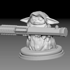 Télécharger objet 3D Bébé Yoda jedi, pierrevdl
