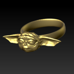 Download free STL files Yoda Baby Ring #ANYCUBIC3D, pierrevdl