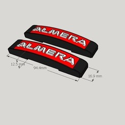 Almera.jpg Download STL file Nissan Almera Versa Custom Door Guard • 3D print design, darcaxxxr