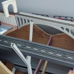 Download free STL file HO scale double arch train bridge, coppertop001