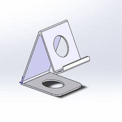 Phone stand 2.JPG Download STL file Phone stand • 3D printer object, jancikoas15