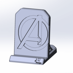 Download free 3D printing designs Phone Stand Avengers, jancikoas15
