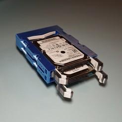 "DSC01020 Square.jpg Download STL file Dual 2.5"" Drive to 3.5"" Bay Adapter • 3D printer template, 3Dwebe"