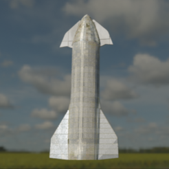 Download free 3D printer model starship mk4, Space3D