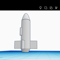 Download free 3D print files single rocket, Space3D