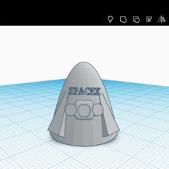 Download free 3D printer model crew dragon space x, Space3D