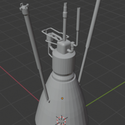 Télécharger plan imprimante 3D gatuit Moteur de fusée, Space3D