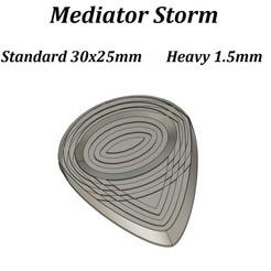 Mediator Storm Vignette TitreLegende.jpg Télécharger fichier STL Mediator Guitare Storm • Plan à imprimer en 3D, seb-briand