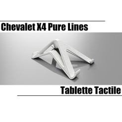 Download 3D printing templates X4 Pure Lines Touch Tablet, seb-briand
