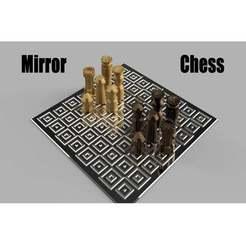 Télécharger fichier imprimante 3D gratuit Mirror Chess / Echiquier Miroir, seb-briand