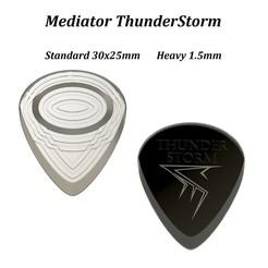 Mediator ThunderStorm Vignette LegendeTitre.jpg Download STL file Mediator Guitar ThunderStorm • 3D printable design, seb-briand