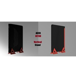 ACER Nitro VerticalStand Vignette.jpg Download STL file Vertical Stand ACER NITRO - Vertical Laptop Stand ACER NITRO • Object to 3D print, seb-briand