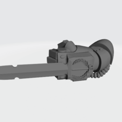 powerfistblade.png Download free OBJ file Power Blade addon for Space Warrior Power Fist • 3D printer template, dmordred