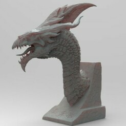 d.1.jpg Download STL file dragon bust1 • 3D printing model, shahbazovelmeddin