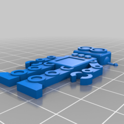 Download free 3D printing designs My Customized Robot Keychain, awvanwyk1
