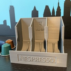 Download free 3D printing designs Nespresso Capsules Dispenser, MatFeex