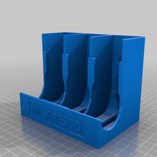 nespresso_capsule_dispenser.png Télécharger fichier STL gratuit Distributeur de capsules Nespresso • Modèle pour imprimante 3D, MatFeex