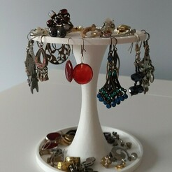porte-bijoux.jpg Download free STL file jewelry holder, earrings • 3D print object, carolinefillion