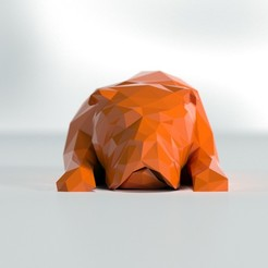 Télécharger fichier impression 3D gratuit low poly bulldog, the3darchprint