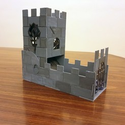 dice_tower_1.jpg Download free STL file foldable dice tower • 3D print object, the3darchprint