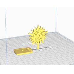 supernatural stl.png Download STL file supernatural viewing award • 3D print template, Wynchester